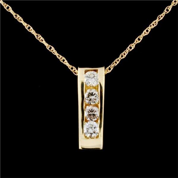 14K Gold 0.56ctw Diamond Pendant