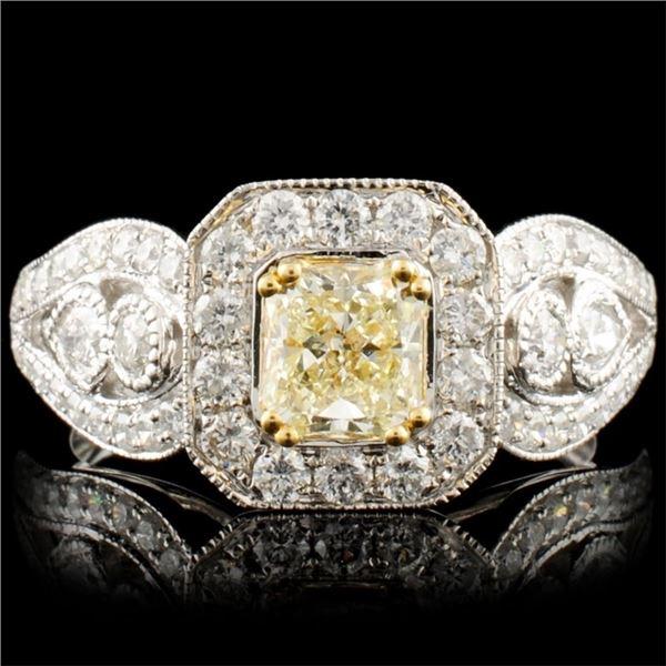 18K Gold 1.51ctw Fancy Diamond Ring