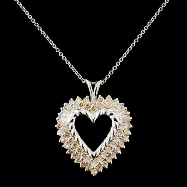 14K Gold 1.40ctw Diamond Pendant