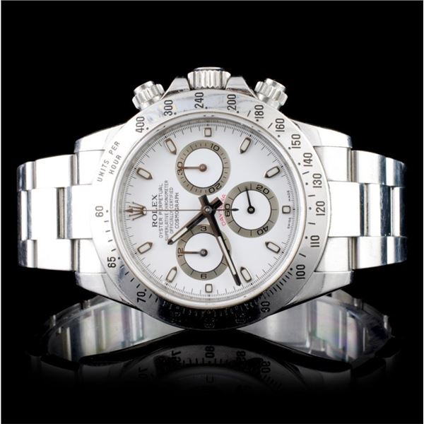 Rolex Daytona Stainless Steel Wristwatch
