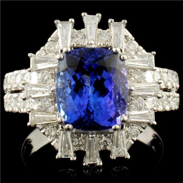18K Gold 3.59ct Tanzanite & 1.05ctw Diamond Ring