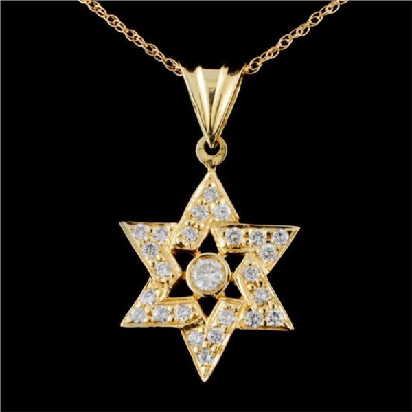 18K Gold 1.08ctw Diamond Pendant