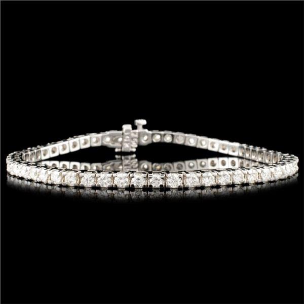 14K Gold 4.28ctw Diamond Bracelet