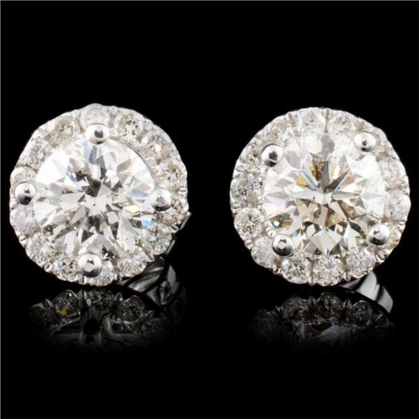 14K Gold 1.13ctw Diamond Earrings