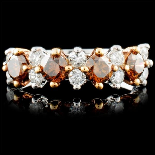 14K Gold 1.00ctw Fancy Color Diamond Ring