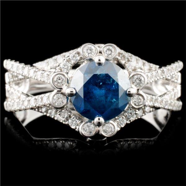 18K Gold 1.48ctw Fancy Color Diamond Ring