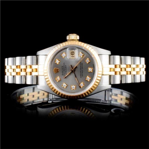 Rolex DateJust Diamond Ladies Watch
