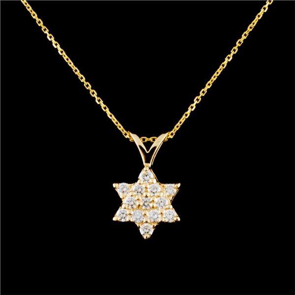 14K Gold 0.24ctw Diamond Pendant