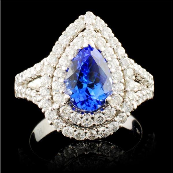 18K Gold 1.22ct Tanzanite & 1.13ctw Diamond Ring