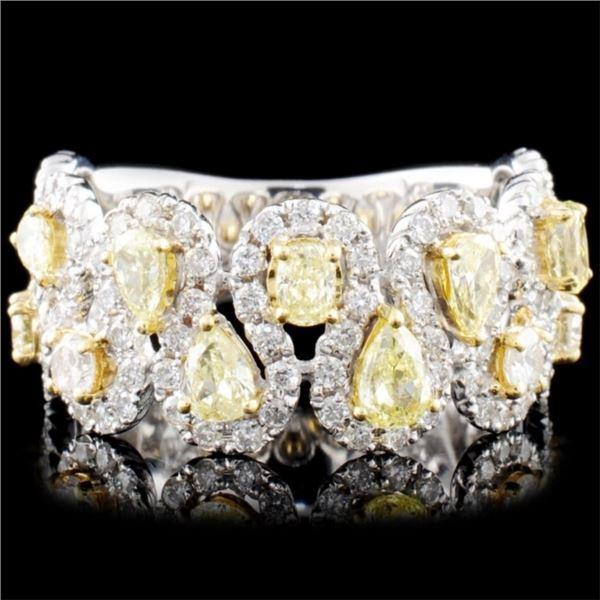 18K Gold 1.48ctw Fancy Diamond Ring