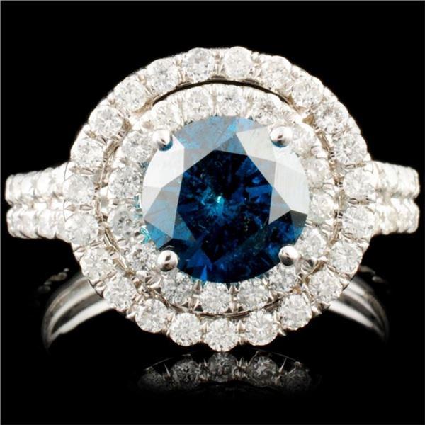 18K Gold 2.58ctw Fancy Color Diamond Ring
