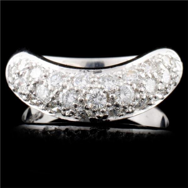 Platinum 0.93ctw Diamond Ring