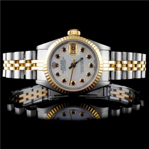 Rolex YG/SS DateJust Ladies Wristwatch