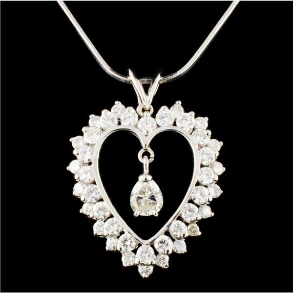 14K Gold 1.92ctw Diamond Pendant