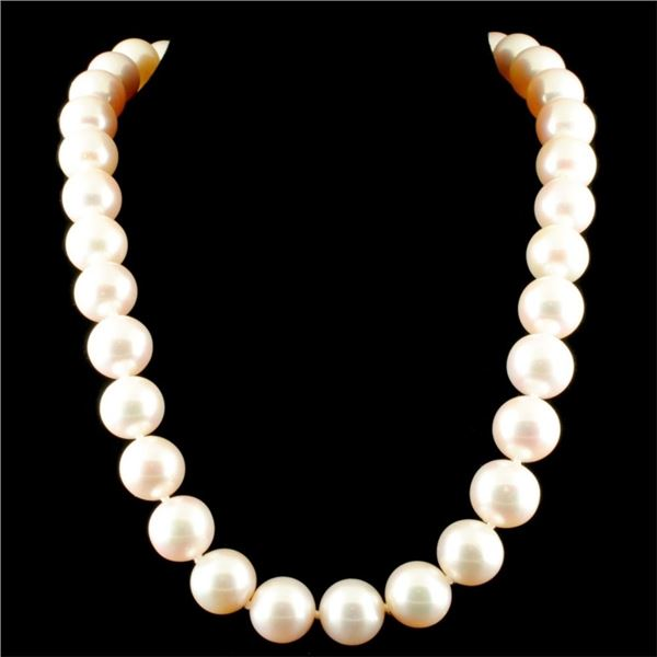 14K Gold 14-15MM Tahitian South Sea Pearl Necklace