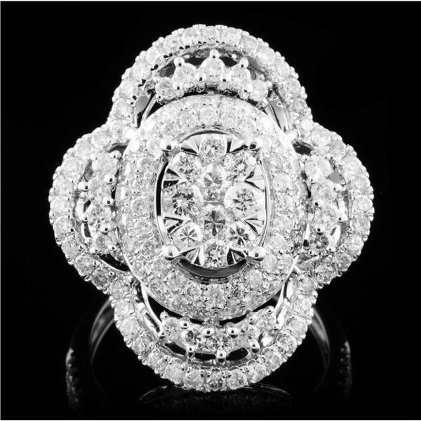 18K White Gold 2.02ct Diamond Ring