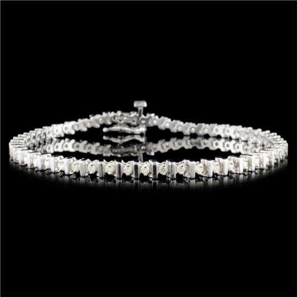 14K Gold 1.00ctw Diamond Bracelet