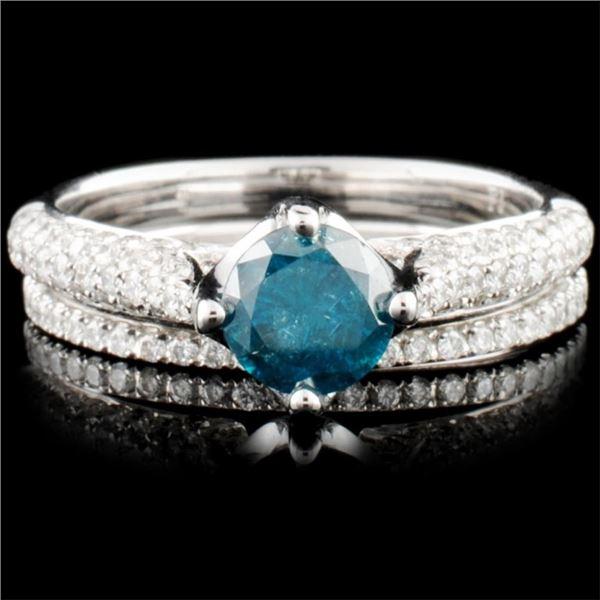 14K Gold 1.43ctw Fancy Color Diamond Ring