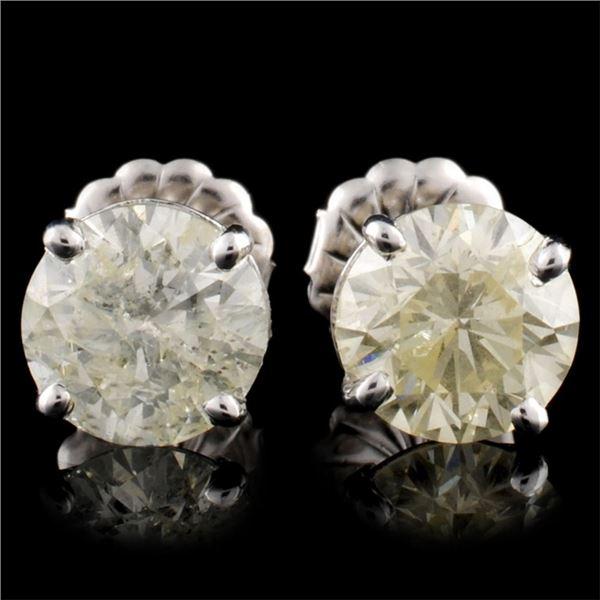 14K Gold 3.00ctw Stud Diamond Earrings