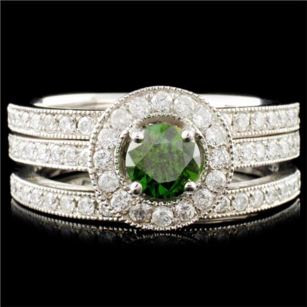 14K Gold 1.10ctw Fancy Color Diamond Ring