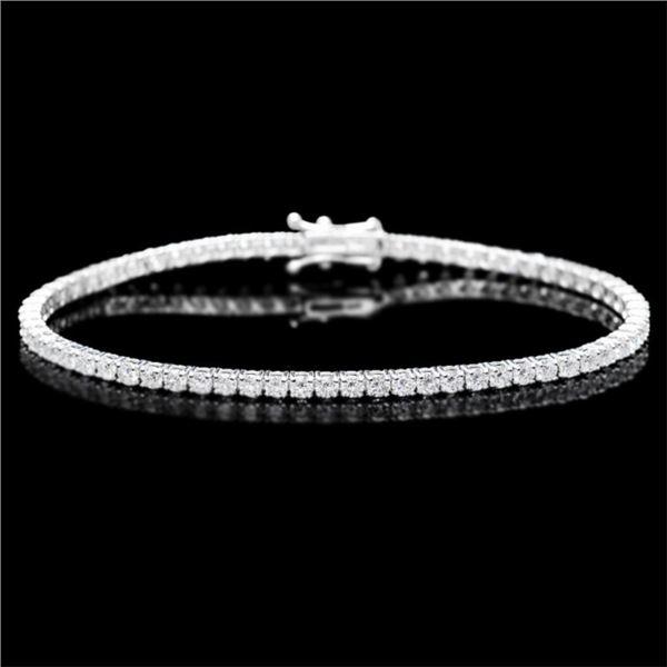 ^18k White Gold 5.00ct Diamond Bracelet