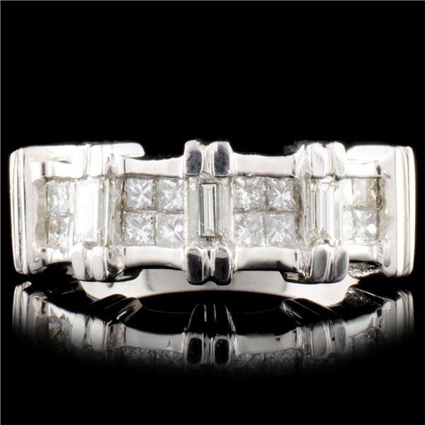 Platinum 0.85ctw Diamond Ring