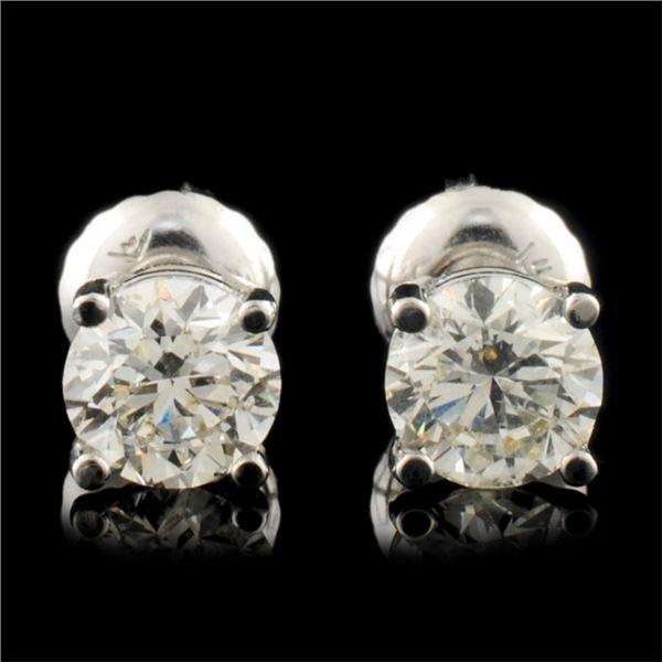 14K Gold 1.00ctw Diamond Stud Earrings