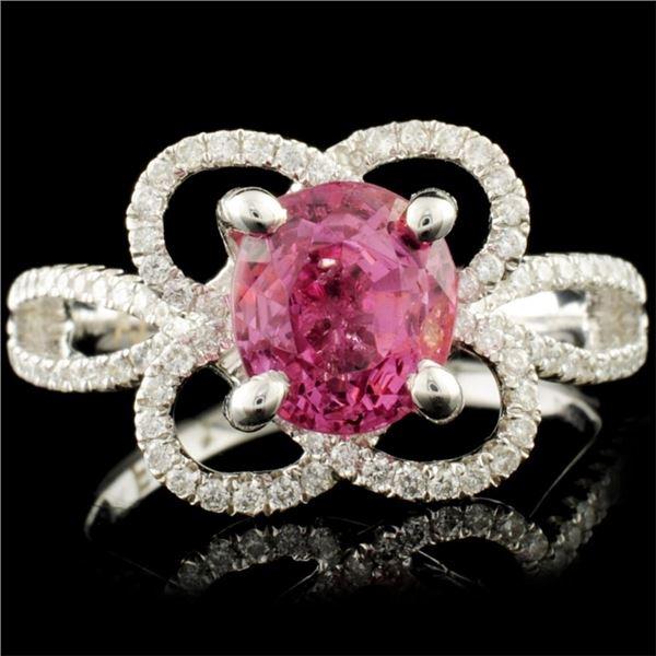 18K Gold 2.14ct Spinel & 0.37ctw Diamond Ring
