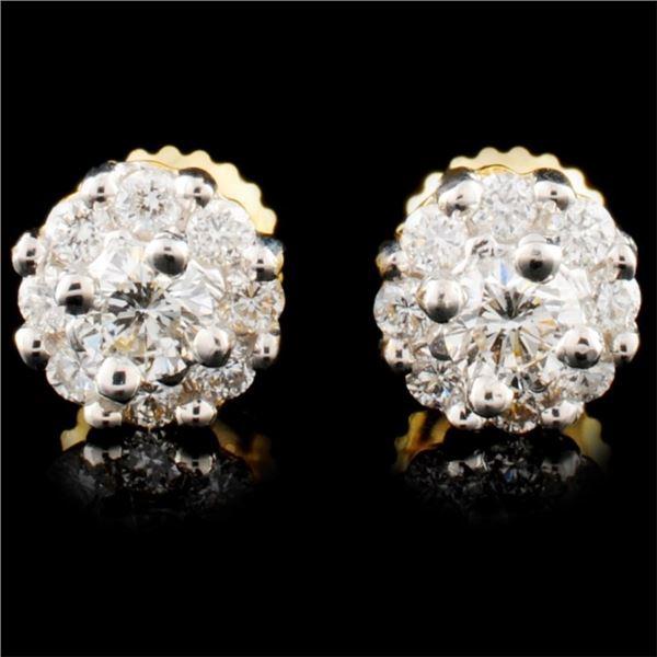 18K Gold 0.66ctw Diamond Earrings