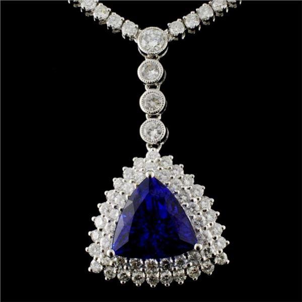 18K White Gold 7.84ct Tanzanite & 10.67ct Diamond