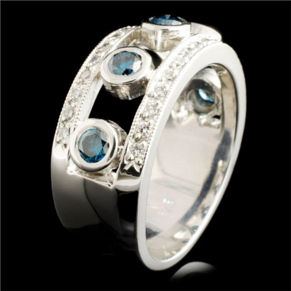 14K Gold 0.68ctw Fancy Color Diamond Ring
