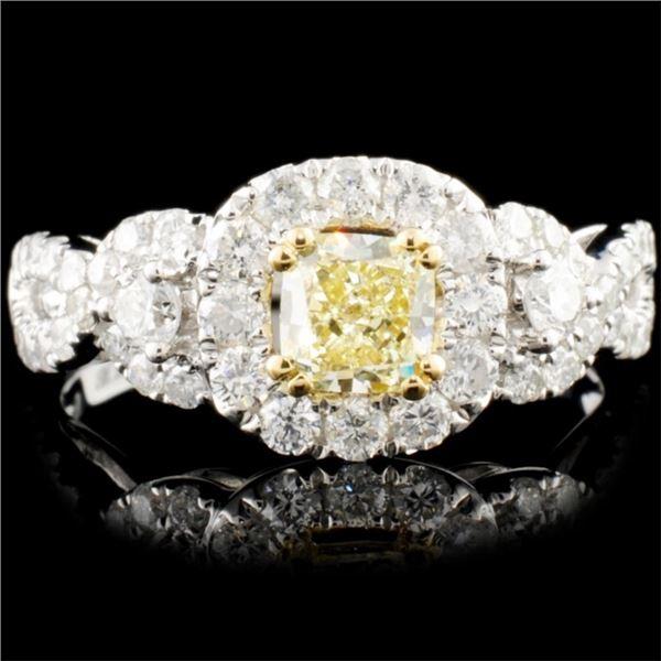 18K Gold 1.35ctw Fancy Color Diamond Ring