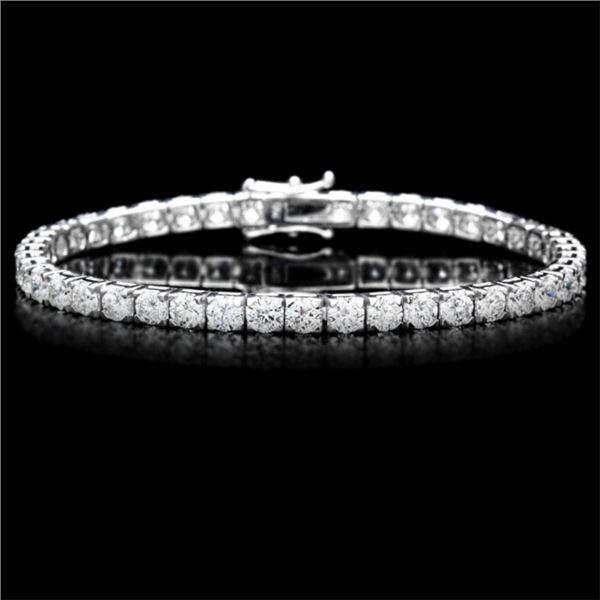 ^18k White Gold 10.00ct Diamond Tennis Bracelet