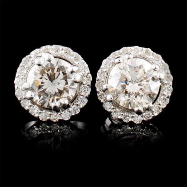 14K Gold 1.15ctw Diamond Earrings