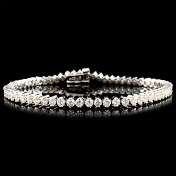 14K Gold 3.78ctw Diamond Bracelet