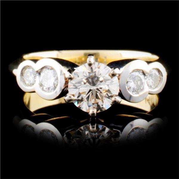 14K Two-tone 1.30ctw Diamond Ring