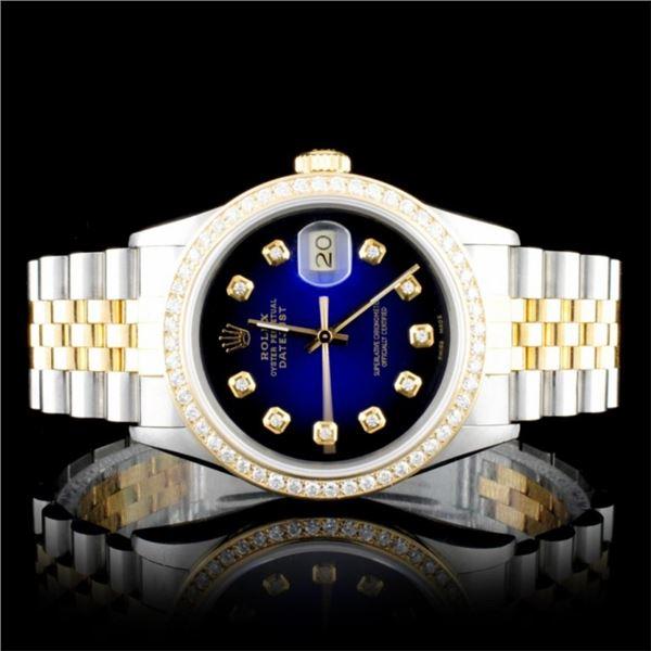 Rolex DateJust YG/SS Diamond 36mm Wristwatc