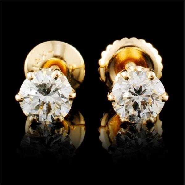 14K Gold 0.78ctw Diamond Earrings