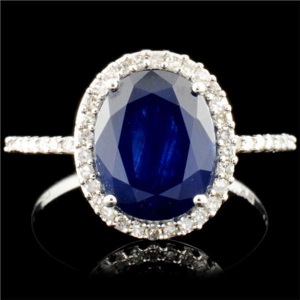 14K Gold 2.12ct Tanzanite & 0.48ctw Diamond Ring