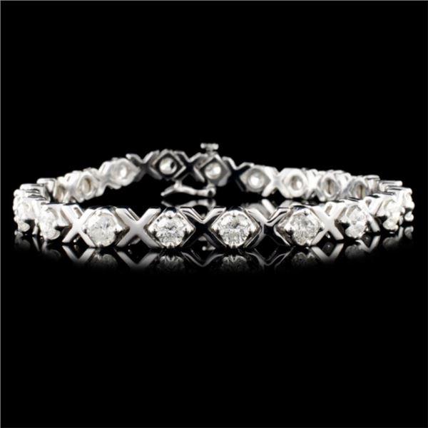 14K Gold 5.00ctw Fancy Diamond Bracelet