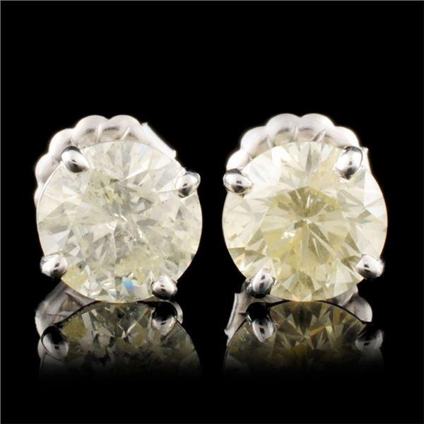 14K Gold 3.00ctw Diamond Stud Earrings