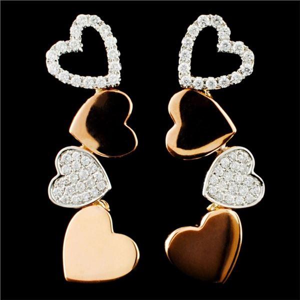 18K Gold 0.46ctw Diamond Earrings