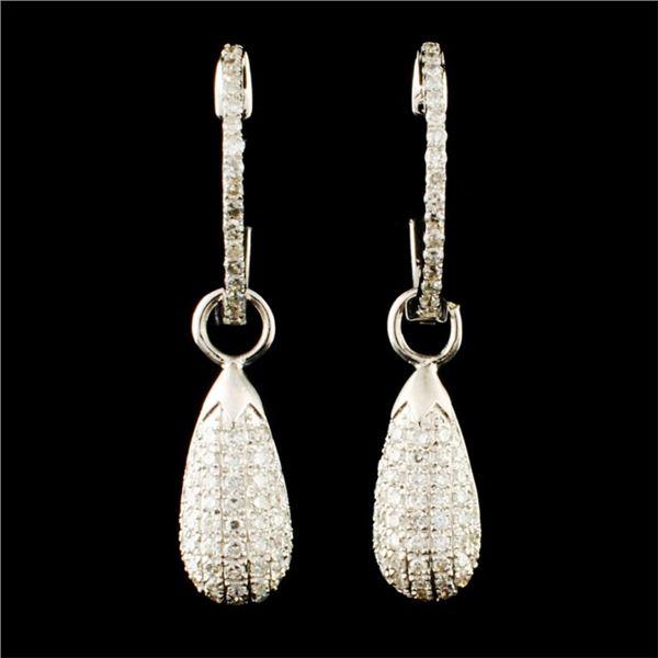 14K Gold 0.86ctw Diamond Earrings