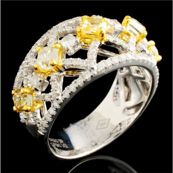 18K Gold 1.71ctw Fancy Diamond Ring