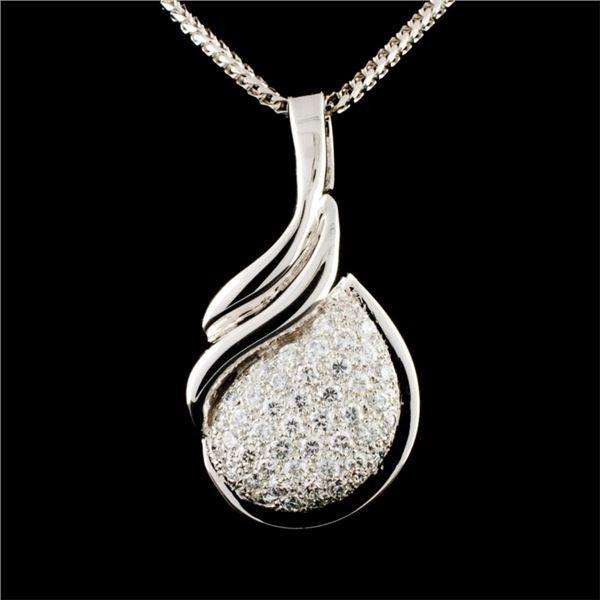 14K Gold 1.12ctw Diamond Pendant