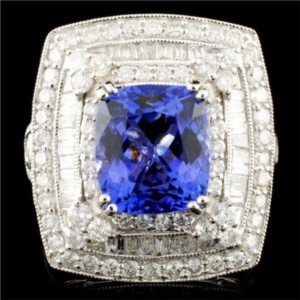 18K Gold 3.44ct Tanzanite & 1.58ctw Diamond Ring