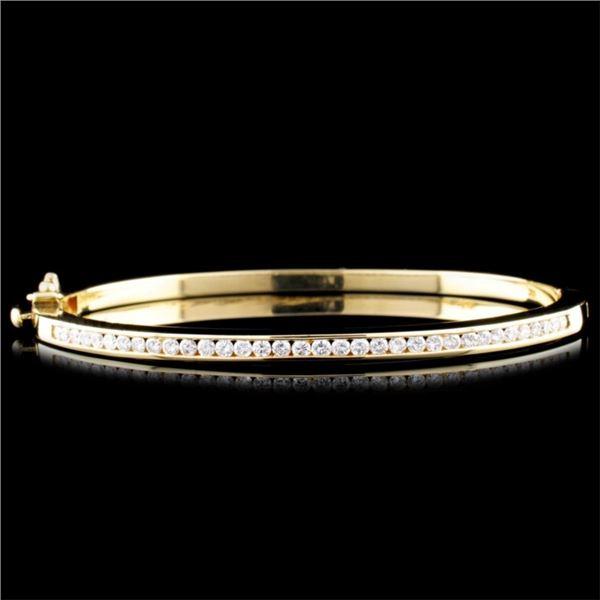 14K Gold 1.12ctw Diamond Bracelet