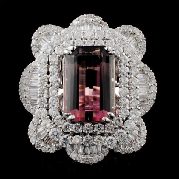 18K Gold 8.62ct Tourmaline & 4.56ctw Diamond Ring