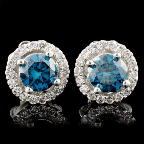 14K Gold 1.03ctw Diamond Earrings