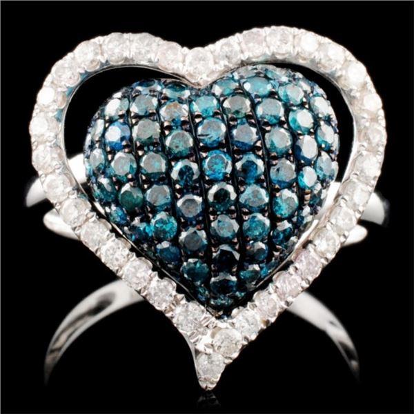 18K Gold 1.42ctw Fancy Color Diamond Ring